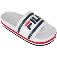 Chaussures Claquettes Fila morro bay zeppa wmn white/stripe Blanc