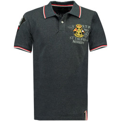 Vêtements Homme Polos manches courtes Geographical Norway Polo manches courtes KOLLOBRIERE gris