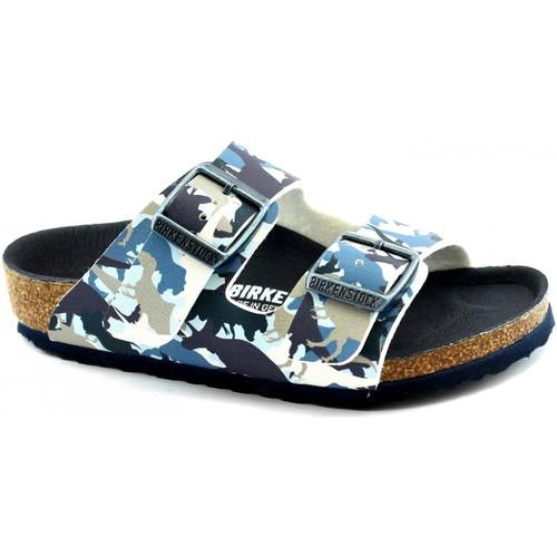 Chaussures Garçon Mules Birkenstock BIR-RRR-1012682-BL Blu