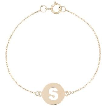 Montres & Bijoux Enfant Bracelets Mes-Bijoux.fr Bracelet lettre S Or jaune 375/1000 Doré