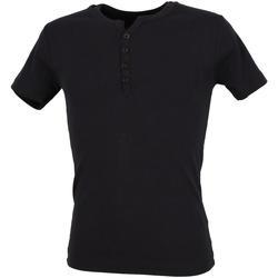 Vêtements Homme T-shirts manches courtes La Maison Blaggio Theo navy mc tee Bleu marine / bleu nuit