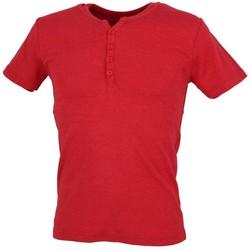 Vêtements Homme T-shirts manches courtes La Maison Blaggio Theo dk red mel mc tee Rouge