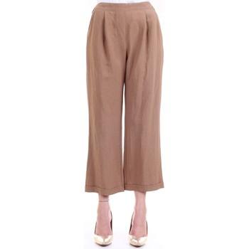 Vêtements Femme Pantalons fluides / Sarouels Lanacaprina PF2302 Cuir