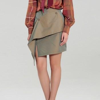 Vêtements Femme Jupes Smart & Joy EPIAIRE Vert kaki