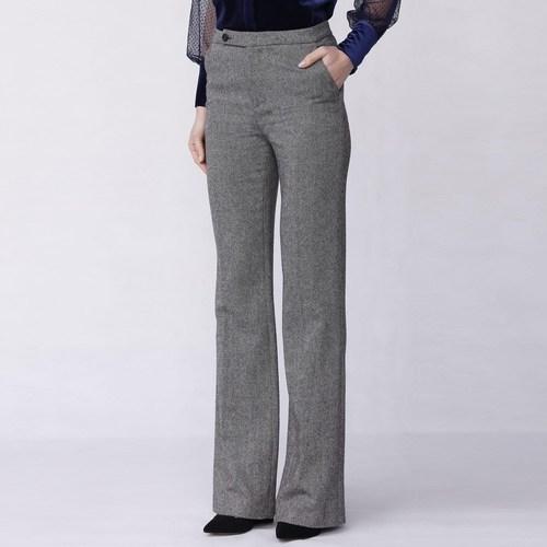 Le moins cher LOTIER  Smart & Joy  pantalons  femme  gris chiné