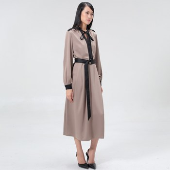 Vêtements Femme Robes longues Smart & Joy LUNAIRE Taupe