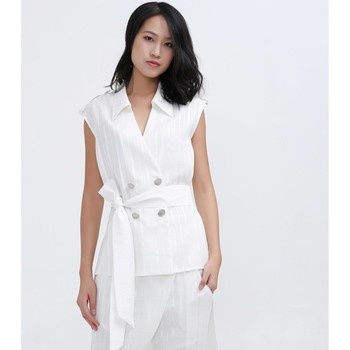 Vêtements Femme Vestes Smart & Joy ABELIA Blanc