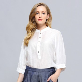 Vêtements Femme Chemises / Chemisiers Smart & Joy EPICÉA Blanc