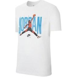 Vêtements Homme T-shirts manches courtes Nike Jordan Jumpman Photo Tee Blanc, Bleu