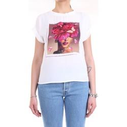 Vêtements Femme T-shirts manches courtes Lanacaprina PF2234 blanc