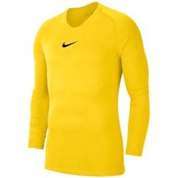 Vêtements Garçon T-shirts manches longues Nike JR Dry Park First Layer Jaune