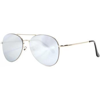 Montres & Bijoux Lunettes de soleil Eye Wear Lunettes de Soleil Aviateur Miroir Gris Argent Classe Flying Gris