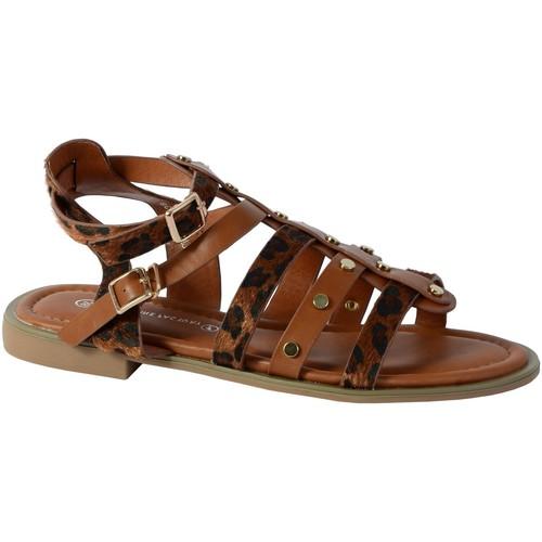 Chaussures Femme Sandales et Nu-pieds The Divine Factory Sandale CM3965 Camel