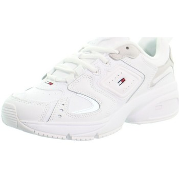 Chaussures Femme Baskets basses Tommy Jeans Basket femme  ref_49791 White blanc