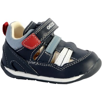 Chaussures Homme Sandales et Nu-pieds Geox Sandales Bébé/Garçons B Each A - Nappa+Geobuck Navy/White