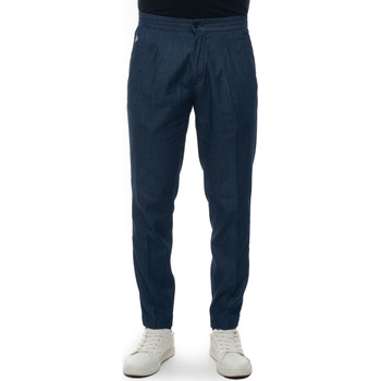 Vêtements Pantalons Luigi Borrelli Napoli FILANGERI-TJ51570 Denim scuro
