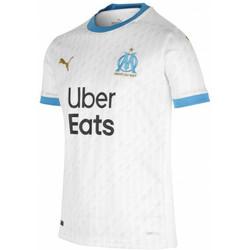 Vêtements Garçon T-shirts manches courtes Puma Maillot domicile enfant OM 2020/21 blanc/bleu azur