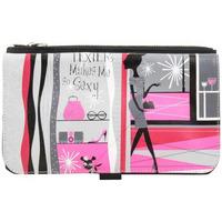 Sacs Femme Sacs porté main Texier Portefeuille  ultra-plat fabriqué en France motif rose Multicolor