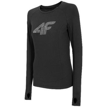 Vêtements Femme T-shirts manches longues 4F TSDLF001 Noir