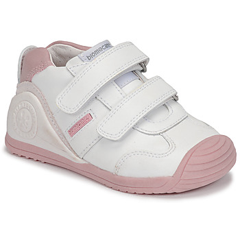 Chaussures Fille Baskets basses Biomecanics BIOGATEO SPORT Blanc / Rose