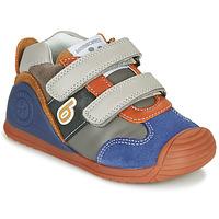 Chaussures Garçon Baskets basses Biomecanics ZAPATO SPORT VELCRO Gris / Bleu / Orange