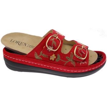 Chaussures Femme Mules Calzaturificio Loren LOB5021ro rosso