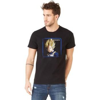 Vêtements Homme T-shirts manches courtes Capslab T-shirt Dragon Ball Z Vegeta noir