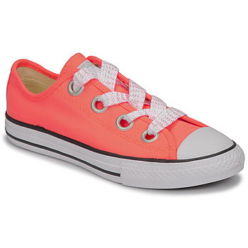 Chaussures Fille Baskets basses Converse CTAS BIG EYELET OX LAVA GLOW/WHITE/BLACK Rose