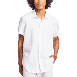 Vêtements Homme Chemises manches courtes Timberland SS MILL RIVER LINEN CAMICIA BIANCA Blanc
