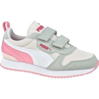 Chaussures Fille Baskets basses Puma R78 V PS Blanc,Gris,Rose