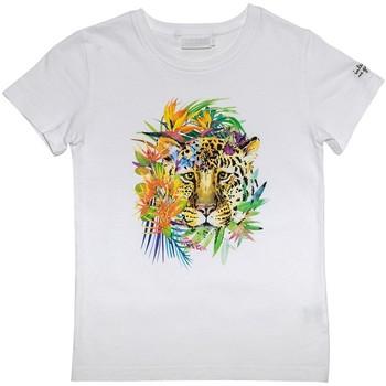 Vêtements Enfant T-shirts & Polos Interdit De Me Gronder PANTHER Ecru