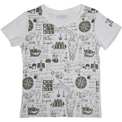 Vêtements Garçon T-shirts & Polos Interdit De Me Gronder PIRATE Ecru