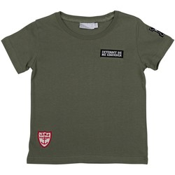 Vêtements Garçon T-shirts & Polos Interdit De Me Gronder EXPEDITION Vert kaki