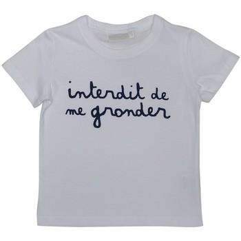 Vêtements Enfant Polos manches courtes Interdit De Me Gronder L'INTERDIT Blanc