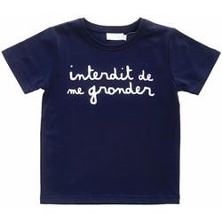 Vêtements Enfant Polos manches courtes Interdit De Me Gronder L'INTERDIT Bleu marine