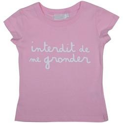 Vêtements Enfant Polos manches courtes Interdit De Me Gronder L'INTERDIT Rose