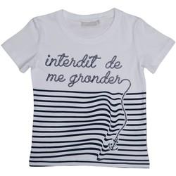 Vêtements Garçon T-shirts manches courtes Interdit De Me Gronder ANCRE Blanc