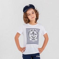 Vêtements Garçon T-shirts & Polos Interdit De Me Gronder TRIBORD Blanc