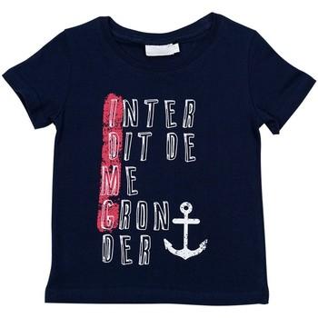 Vêtements Garçon T-shirts manches courtes Interdit De Me Gronder IDMG Bleu marine