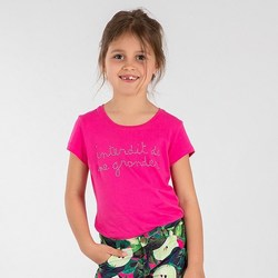 Vêtements Fille T-shirts & Polos Interdit De Me Gronder INITA Rose fuschia