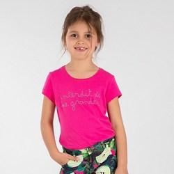 Vêtements Fille T-shirts & Polos Interdit De Me Gronder INITA Rose fushia