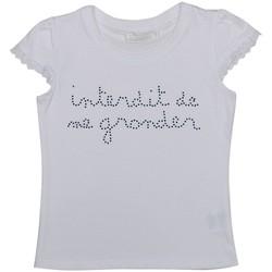 Vêtements Fille T-shirts & Polos Interdit De Me Gronder STRASSITA Blanc