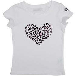Vêtements Fille T-shirts manches courtes Interdit De Me Gronder LOVE Blanc