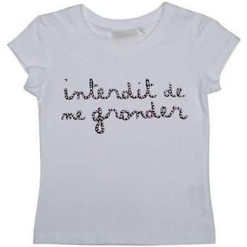 Vêtements Fille T-shirts manches courtes Interdit De Me Gronder AMOR Blanc