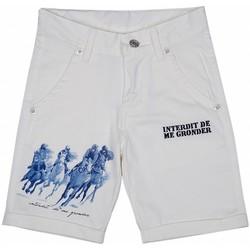 Vêtements Garçon Shorts / Bermudas Interdit De Me Gronder Bermuda chino ADVENTURA Ecru