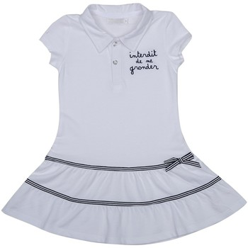 Vêtements Fille Robes Interdit De Me Gronder MADEMOISELLE Blanc