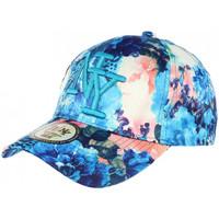 Accessoires textile Casquettes Hip Hop Honour Casquette NY Bleu et Beige Florale Fashion Baseball Spring Bleu