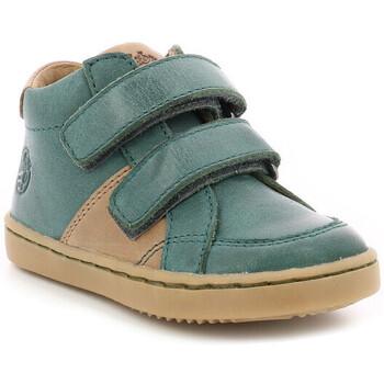 Chaussures Garçon Baskets montantes Aster Wikiri VERT FONCE
