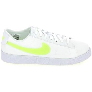 Chaussures Enfant Baskets basses Nike Blazer low Jr Blanc Jaune AQ5604-101 Blanc