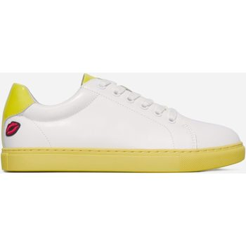 Chaussures Femme Baskets mode Bons Baisers De Paname Simone Colour My Sole Lemon BLANC